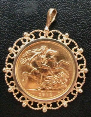 The uk mint home of fine coins and collectables gold sovereign pendant aloadofball Images