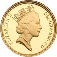 Elizabeth II Maklouf Head PROOF Sovereign